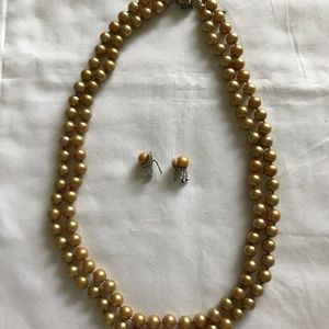 Vintage Faux Champagne Pearls